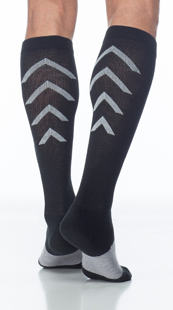Sigvaris Athletic Recovery 401C299 15-20mmHg Athletic Recovery Closed Toe Calf Socks - Black Xlarge