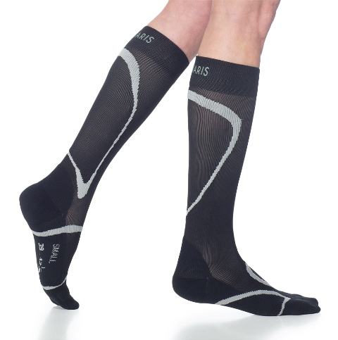 Sigvaris Performance Sock 412CLM99 20-30mmHg Ankle Closed Toe Calf Socks - Black Long Medium