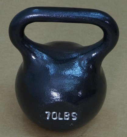 Single Kettlebell Black - 70 lbs