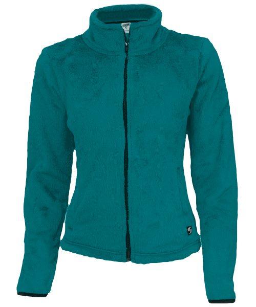 Soffe 1250V4EFLRG Angel Fleece Mock Jacket for Junior Ocean Depths & Astral Aura - Large