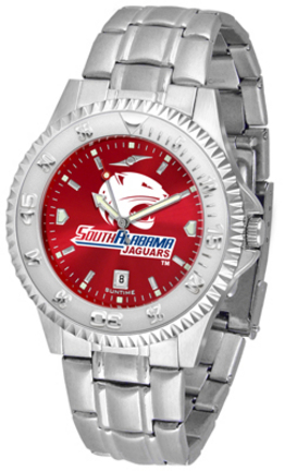 South Alabama Jaguars Competitor AnoChrome Men's Watch with Steel Band