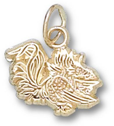 "South Carolina Gamecocks ""Gamecock"" 3/8"" Charm - 14KT Gold Jewelry"