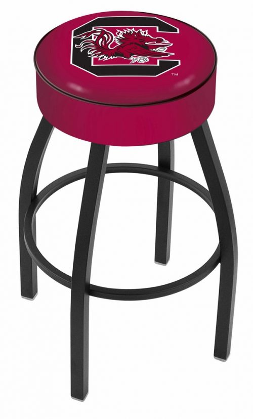 "South Carolina Gamecocks (L8B1) 30"" Tall Logo Bar Stool by Holland Bar Stool Company (with Single Ring Swivel Black Solid Welded Base)"