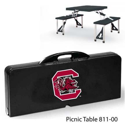 South Carolina Gamecocks Portable Folding Table and Seats