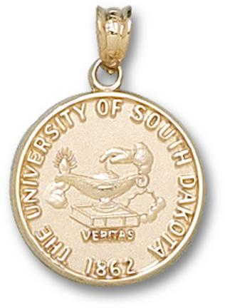 "South Dakota Coyotes ""Seal"" Pendant - 10KT Gold Jewelry"