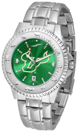 South Florida Bulls Competitor AnoChrome Men's Watch with Steel Band