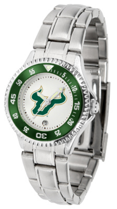 South Florida Bulls Competitor Ladies Watch with Steel Band