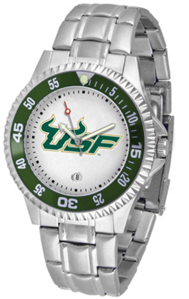 South Florida Bulls Competitor Men's Watch with Steel Band