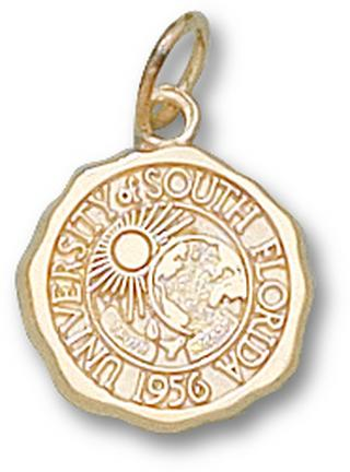 """South Florida Bulls """"Seal"""" 1/2"""" Charm - 10KT Gold Jewelry"""
