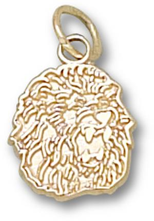 "Southeastern Louisiana Lions ""Lion Head"" 3/8"" Charm - 10KT Gold Jewelry"