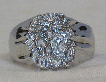 "Southeastern Louisiana Lions ""Lion Head"" Men's Ring Size 10 1/2 - Sterling Silver Jewelry"