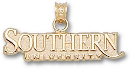 """Southern A & M Jaguars """"Southern University"""" Pendant - 10KT Gold Jewelry"""