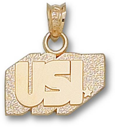 "Southern Indiana Screaming Eagles ""USI"" 3/8"" Pendant - 10KT Gold Jewelry"
