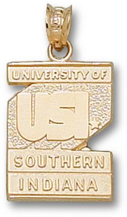 "Southern Indiana Screaming Eagles ""USI Logo"" Pendant - 10KT Gold Jewelry"