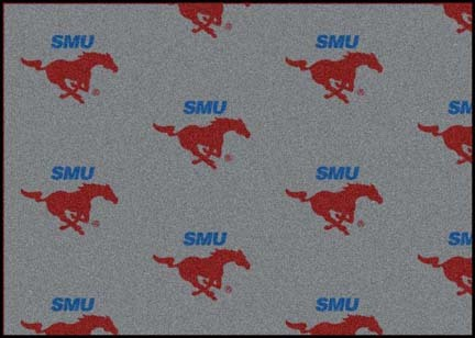"Southern Methodist (SMU) Mustangs 3' 10"" x 5' 4"" Team Repeat Area Rug"