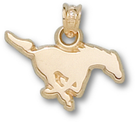 "Southern Methodist (SMU) Mustangs ""Mustang"" Pendant - 10KT Gold Jewelry"