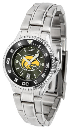 Southern Mississippi Golden Eagles Competitor AnoChrome Ladies Watch with Steel Band and Colored Bezel