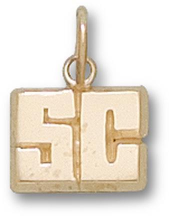 """Spelman Jaguars """"SC"""" 1/4"""" Charm - 10KT Gold Jewelry"""