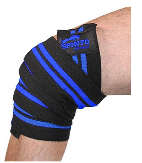 Spinto USA 9160041 Mens Knee Wraps Blue