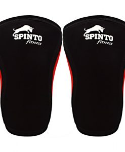 Spinto USA 9160050 7 mm Knee Sleeves Black - Large