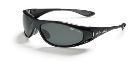 Spiral Sport Sunglasses with Shiny Black Frame and Polarized TNS Oleo AF Lenses from Bolle