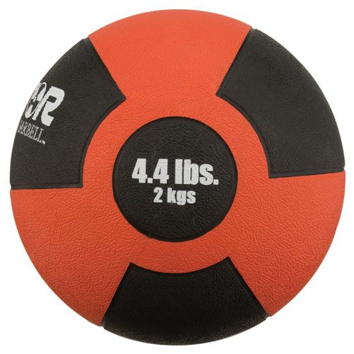 Sport Supply Group 1266290 2kg Red Reactor Rubber Medicine Ball with Durable
