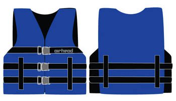 Sports Stuff 10002-03-A-BL Airhead Nylon Youth PFD Open Side - Blue Wetsuit