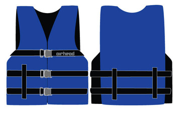 Sports Stuff 10002-15-A-BL Airhead Nylon Universal Adult PFD - Blue Wetsuit