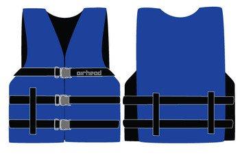 Sports Stuff 10002-16-A-BL Airhead Nylon Universal L-2XL Adult PFD - Blue Wetsuit