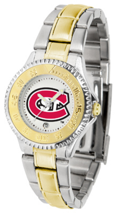 St. Cloud State Huskies Competitor Ladies Watch with Two-Tone Band