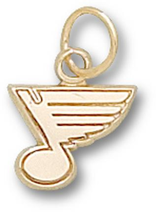 "St. Louis Blues 5/16"" ""Note Logo"" Charm - 14KT Gold Jewelry"