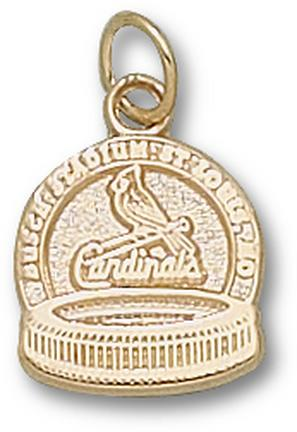"St. Louis Cardinals 1/2"" ""Busch Stadium"" Charm - 10KT Gold Jewelry"