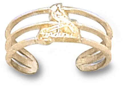 "St. Louis Cardinals 3/8"" ""Bird on Bat"" Toe Ring - 10KT Gold Jewelry"