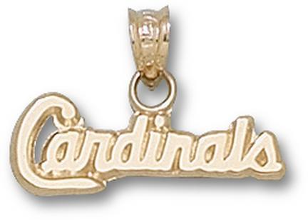 "St. Louis Cardinals ""Cardinals"" 1/4"" Pendant - 14KT Gold Jewelry"