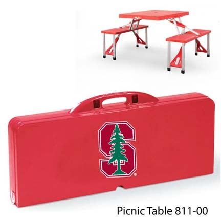 Stanford Cardinal Portable Folding Table and Seats