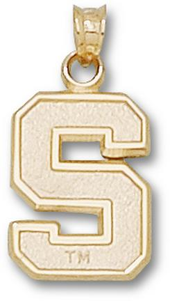 """Stanford Cardinal """"S"""" 5/8"""" Pendant - 10KT Gold Jewelry"""