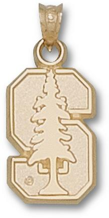 "Stanford Cardinal ""S Tree "" Pendant - 10KT Gold Jewelry"
