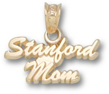 "Stanford Cardinal ""Stanford Mom"" Pendant - 14KT Gold Jewelry"