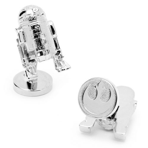Star Wars 3-D R2D2 Palladium Plated Cuff Links - 1 Pair