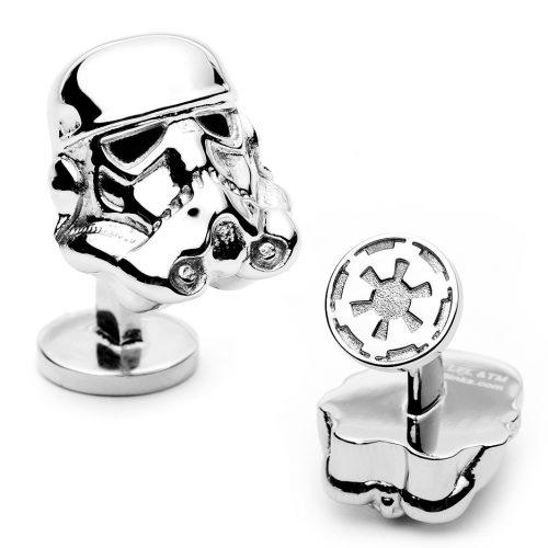 Star Wars 3-D Storm Trooper Head Palladium Plated Cuff Links - 1 Pair