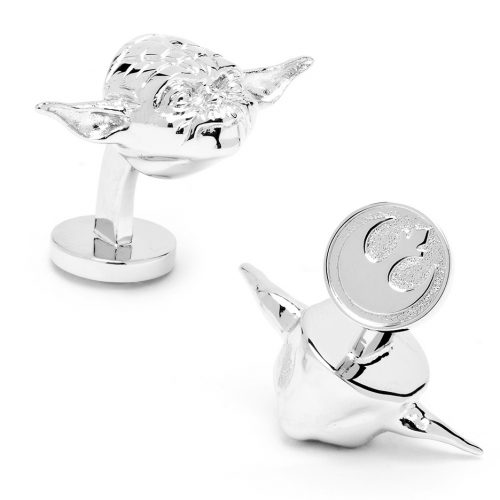 Star Wars 3-D Yoda Head Palladium Plated Cuff Links - 1 Pair