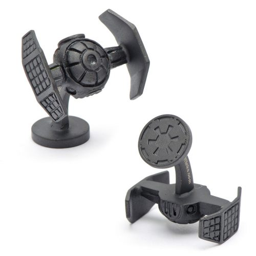 Star Wars Matte Black Darth Vader Tie Starfighter Cuff Links - 1 Pair
