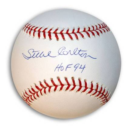 "Steve Carlton Autographed Baseball Inscribed ""HOF 94"