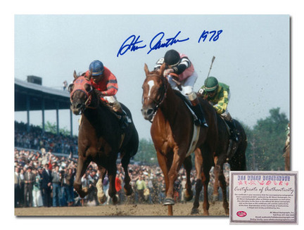 "Steve Cauthen Affirmed Horse Racing Kentucky Derby ""Triple Crown Winner 1978 Color"" Autographed 11"" x 14"" Photograph"