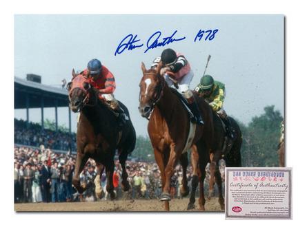 "Steve Cauthen Affirmed Horse Racing Kentucky Derby ""Triple Crown Winner 1978 Color"" Autographed 11"" x 14"" Photograph"