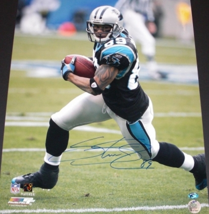 "Steve Smith ""With Ball"" Autographed Carolina Panthers Action 16"" x 20"" Photograph Steve Smith Authenticity (Unframed)"