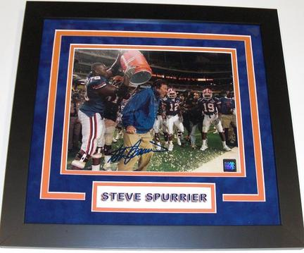 "Steve Spurrier Autographed Florida Gators 1996 National Championship 8"" x 10"" ""Gatorade"" Custom Framed Photograph"