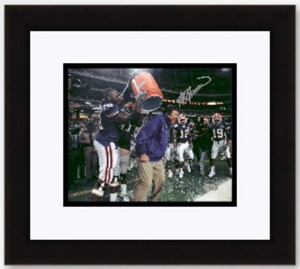 "Steve Spurrier Autographed Florida Gators Coaching 8"" x 10"" Photograph Gatorade dump- Custom Framed"