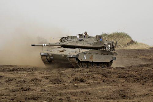 StockTrek Images PSTZDN100155M An Israel Defense Force Merkava Mark IV Main Battle Tank During An Exercise in The Golan Heights Poster Print 17 x 11