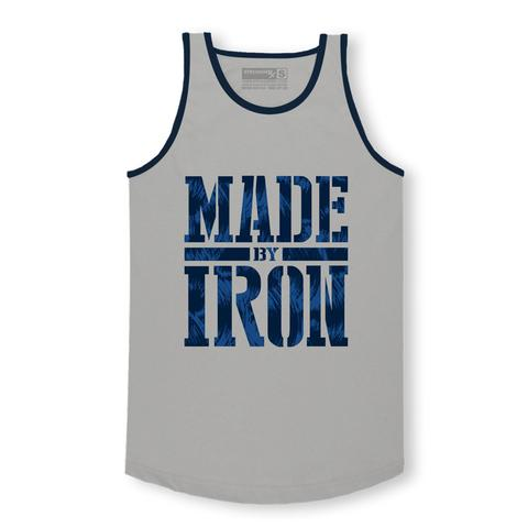 StrongerRX MTtMdOfIrGYSM Made by Iron Tank Top for Men Grey - Small